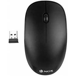 Chollo - NGS FOG Black Ratón Inalámbrico 1000DPI | NGS-MOUSE-0950