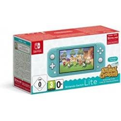 Chollo - Nintendo Switch Lite Turquesa + Animal Crossing New Horizons + 3 meses Nintendo Shop Online