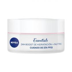 Chollo - Nivea crema hidratante facial de Día Nutritiva con protección solar FP15 para Piel Seca 50 ml