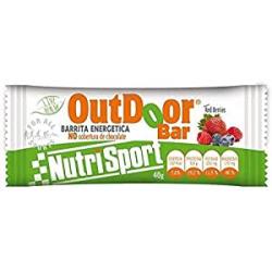 Chollo - Nutrisport OutDoor Red Berries Bar Barritas energeticas Pack 24x 40g