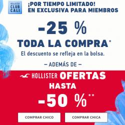 Chollo - Ofertas hasta -50% + 25% extra en Hollister