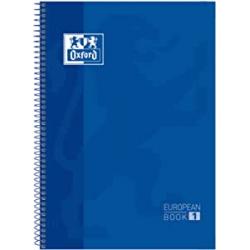 Chollo - Oxford Cuaderno espiral Tapa Extradura A4 80 hojas Azul oscuro Europeanbook 1 | 400143867