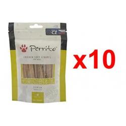 Chollo - Pack 10x Snacks Perrito Chicken Soft Stripes (10x100g)