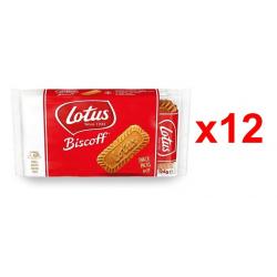 Chollo - Pack 12 Paquetes de Galletas caramelizadas Biscoff Lotus (12x124g)