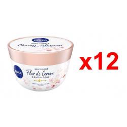 Chollo - Pack 12x Aceite en crema Nivea Body Soufflé Flor de Cerezo & Aceite de Jojoba 12x200ml