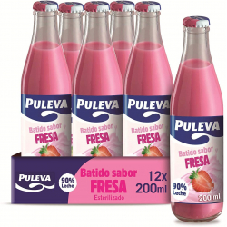 Chollo - Pack 12 Botellas Batido Puleva de Fresa (12x200ml)