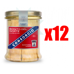 Chollo - Pack 12x Bonito del Norte en aceite de oliva Consorcio (12x400g)