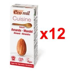 Chollo - Pack 12x Crema de almendra bio Ecomil Cousine Almond Nature (12x200ml)
