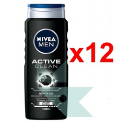 Chollo - Pack 12x Nivea Men Active Clean Gel de Ducha (12x500ml)