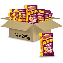 Chollo - Pack 14x Patatas fritas onduladas Ruffles Jamón 295g