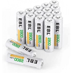 Chollo - Pack 16 Pilas recargables EBL 2800mAh AA