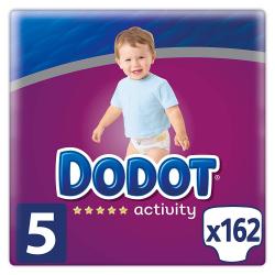 Chollo - Pack de 162 Pañales Dodot Activity Talla 5 (11-16kg)