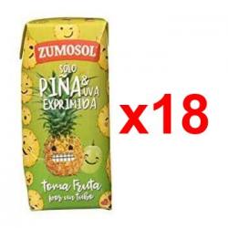 Chollo - Pack 18x Zumo Zumosol Solo Piña y Uva Exprimida (18x200ml)