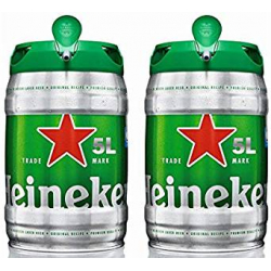 Chollo - Pack 2 Barriles de Cerveza Heineken Lager (2x5L)