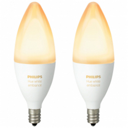 Chollo - Pack 2 Bombillas B39 E14 6W Philips HUE White Ambiance - 929001301402