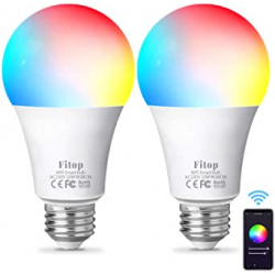 Chollo - Pack 2 Bombillas inteligentes Fitop 9W RGB