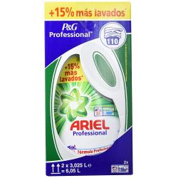 Chollo - Pack 2 Botellas Ariel Professional Detergente Líquido (110 Lavados)