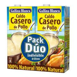 Chollo - Pack 2 Briks Gallina Blanca Caldo Casero de Pollo 100% Natural (2x1L)
