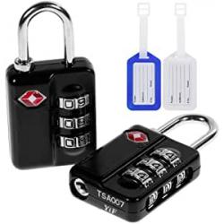 Chollo - Pack 2 Candados TSA Anpro TSA007 + 2 Etiquetas para maletas