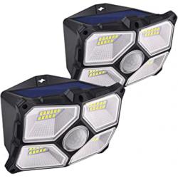 Chollo - Pack 2 Focos solares CalionLTD con sensor de movimiento 2x40LED