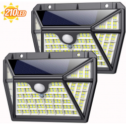 Chollo - Pack 2 Focos Solares con sensor de movimiento Aopawa (2x210LED)
