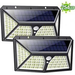 Chollo - Pack 2 Focos Solares Feob con Sensor de Movimiento (2x254LED)