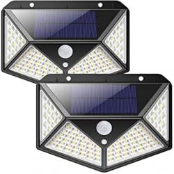 Chollo - Pack 2 Focos Solares iPosible con Sensor de Movimiento (2x100LED)