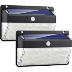 Chollo - Pack 2 focos solares Kilponen 108LED con sensor de movimiento - DD04