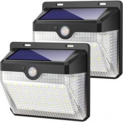 Chollo - Pack 2 focos solares Kilponen 60LED con sensor de movimiento