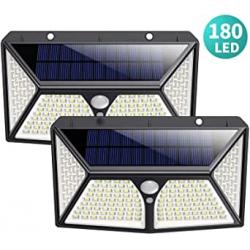 Chollo - Pack 2 Focos Solares LED HETP con Sensor de Movimiento (2x180LED)