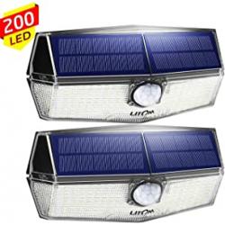 Chollo - Pack 2 Focos Solares LED LITOM con Sensor de Movimiento (2x200LED)