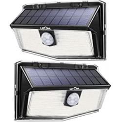 Chollo - Pack 2 Focos solares Litom 300LED con sensor de movimiento