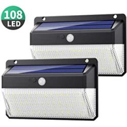 Chollo - Pack 2 Focos Solares Yacikos con Sensor de Movimiento (2x108LED)