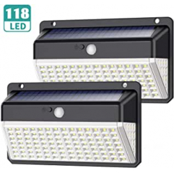 Chollo - Pack 2 Focos Solares Yacikos con Sensor de Movimiento (2x118LED)