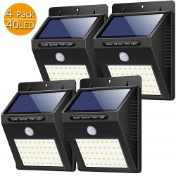 Chollo - Pack 4 Focos Solares Yacikos con Sensor de Movimiento (4x40LED)