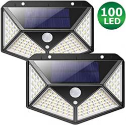Chollo - Pack 2 Focos Solares Zimax con Sensor de Movimiento (2x100LED)