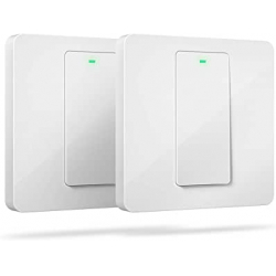 Chollo - Pack 2 Interruptores de pared inteligentes Meross Smart WiFi Single Pole Switch - MSS510X