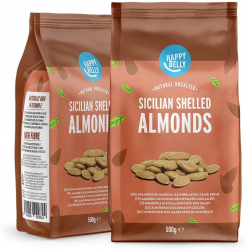 Chollo - Pack 2 Paquetes Almendras Sicilianas Happy Belly (2x500g)