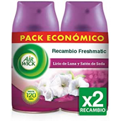 Chollo - Pack 2 Recambios Air Wick Freshmatic Lirio de Luna y Satén de Seda (2x250ml)