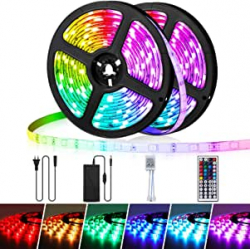 Chollo - Pack 2 Tiras LED Ambother RGB 12V 2x 5 metros