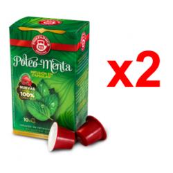 Chollo - Pack 20 Cápsulas Pompadour Poleo-Menta compatibles Nespresso (2x10 cápsulas)