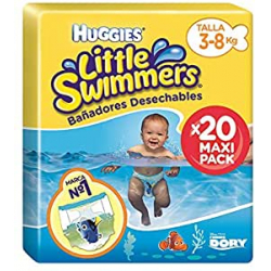 Chollo - Pack 20x Huggies Little Swimmers Pañales acuáticos (3-8 Kg)