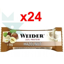Chollo - Pack 24 Barritas Weider Bar Protein Avellana (24x35g)