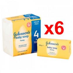 Chollo - Pack 24 Pastillas de Jabón Johnson's Baby con Miel (6x4x100g)