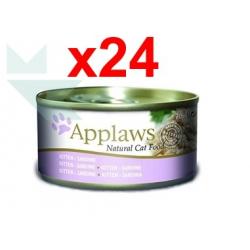 Chollo - Pack 24x Applaws Natural Cat Food Kitten Sardina (24x70g)
