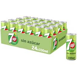 Pack 24x Refresco 7Up Free Lima Limón sin azúcar 24x330ml