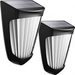 Chollo - Pack 2x aplique de pared solar CALIONLTD con sensor de movimiento