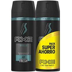 Chollo - Pack 2x Desodorante & Bodyspray Axe Apollo Fresh 2x150ml