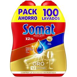 Chollo - Pack 2x Gel lavavajillas Somat Oro Frescor Anti-Olor con vinagre (100 lavados)