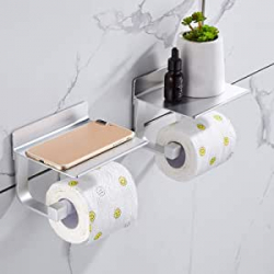 Chollo - Pack 2x Portarrollos WC con repisa Hoomtaook